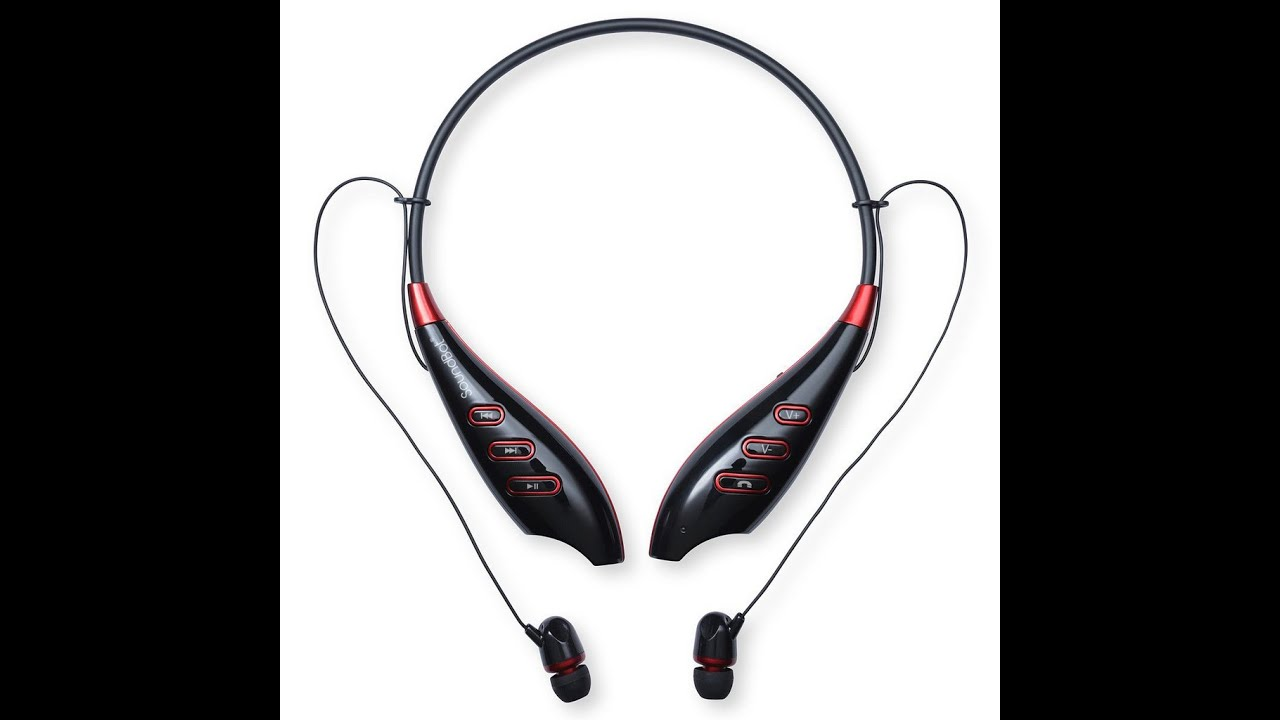 4a89e5c0ab3 SoundBot® SB735 Around-the-Neck Bluetooth 4.0 Wireless Stereo Headset  Wearable Headset