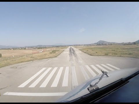 Approach & landing runway 34 Zakynthos airport (ZTH LGZA).