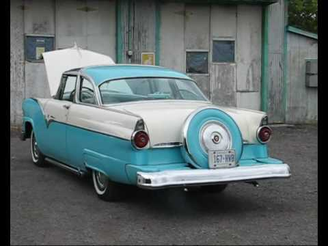 55 Ford Fairlane Crown Victoria Skyliner  YouTube