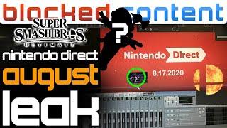 Nintendo Direct August LEAK: Switch PLUS & Smash Bros. Ultimate NEWCOMER Speculation! - LEAK SPEAK!