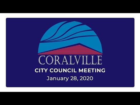 Coralville City Council Meeting (Jan. 28, 2020)
