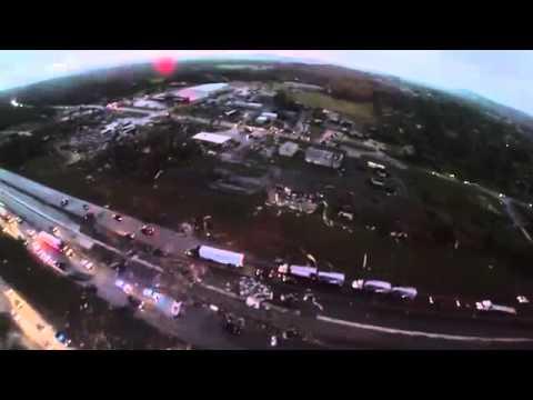 28/4/2014 - Arkansas Tornado Damage Aerial