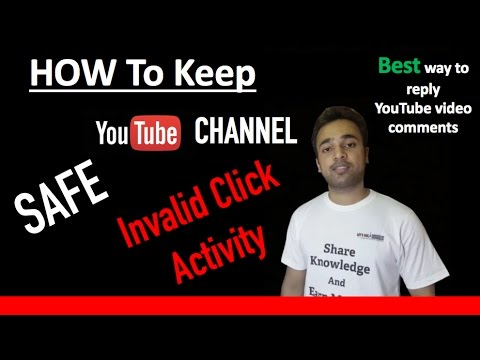 How to Keep Adsense safe from Invalid Click Activity Strike on YouTube Channel - YouTube SEO tips - 동영상