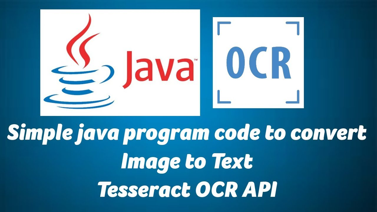 Simple java program code to convert Image to Text