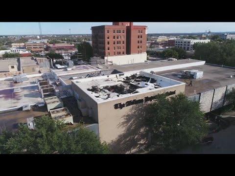 Fire At Abilene Reporter-News Burns For Hours - Roof Destroyed, Basement Flooded