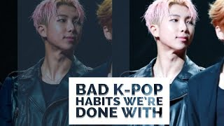 Bad K-Pop Habits We're Done With