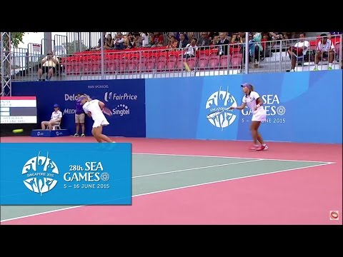 Tennis Womens Doubles  Finals (Day 9) | 28th SEA Games Singapore 2015