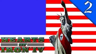 NAZI AMERICA NUKES SOUTH AMERICA! Hearts of Iron 4: The Man in the High Castle Mod: Nazi America #2