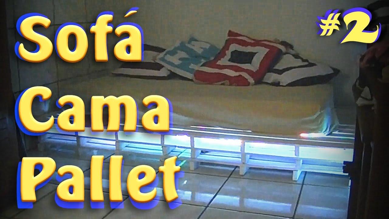 Paletes como fazer uma cama sof parte 2 upcycling for Sofa bed uma