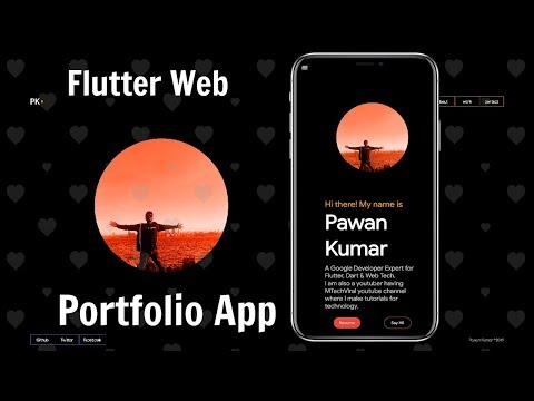 Flutter Web: Making a Responsive Portfolio App   Part 1