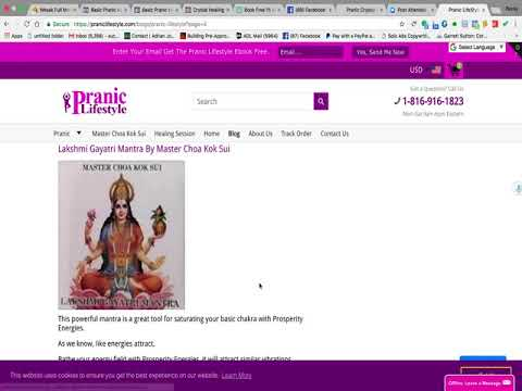 Lakshmi Gayatri Mantra By Master Choa Kok Sui Cds - YouTube