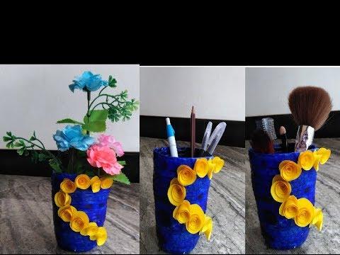 DIY paper glass/paper vase /paper stationary organiser