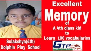 Excellent  Learning  of  100 advanced vocabularies by 4 the class  kid