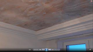 видео Венецианская штукатурка, натяжной потолок