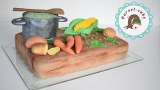 Koch Torte/ Holzbrett Torte/ Topf Torte/Motivtorten/von Purzel-cake