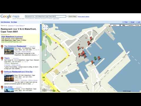 Google South Africa Maps General intro