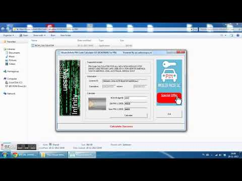 New Nissan Infiniti PIN Code Calculator 4 0 BCM IMMU to PIN [UNLIMITED]