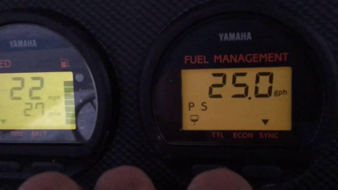 Yamaha V  Outboard Fuel Consumption