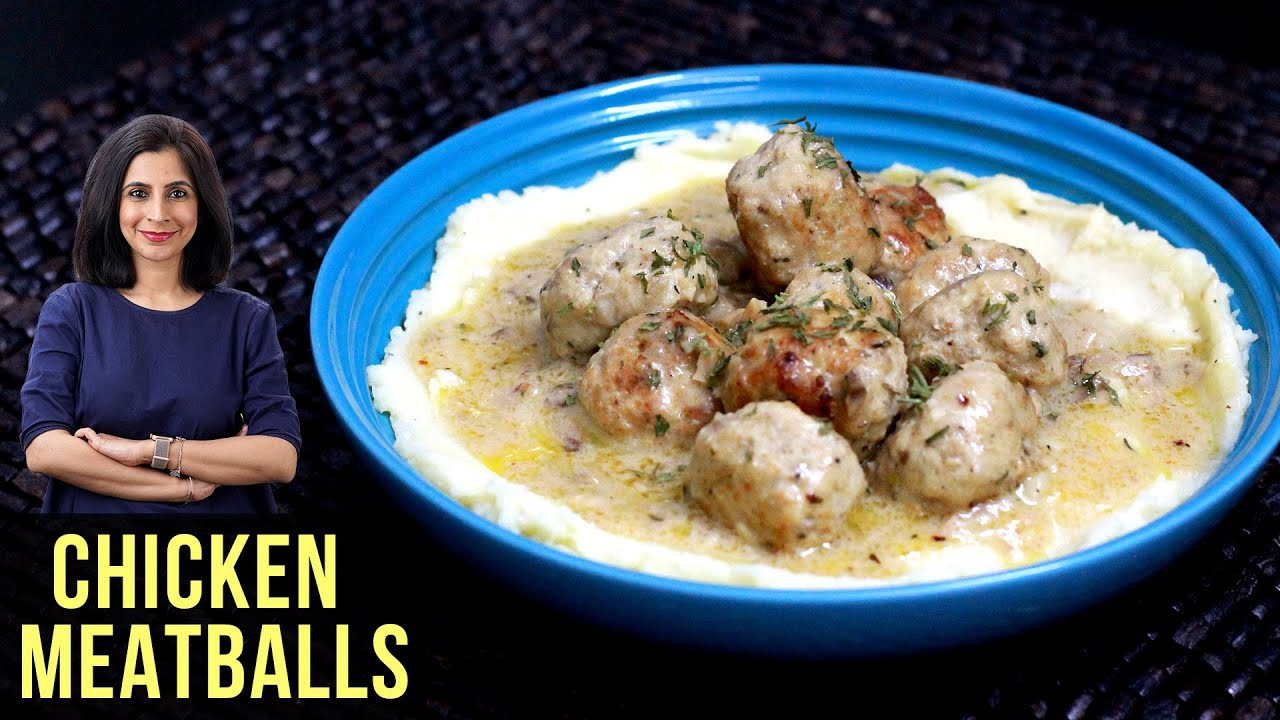 Chicken Meatballs With Cream Sauce | How To Make Chicken Meatballs | Chicken Recipe By Tarika Singh
