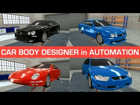 Car body designer and my custom designs - Automation game