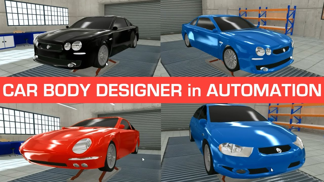 Car Body Designer And My Custom Designs Automation Game Youtube