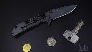 Металлический нож в титановой броне - Sanrenmu 7056