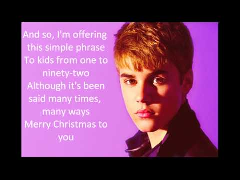 Justin Bieber - The Christmas Song Ft. Usher (Lyrics On Screen)