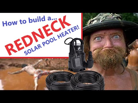 How to build a Redneck Pool Heater (solar pool heater) the easy way.
