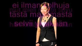 Anneli Mattila - Luottaa huomiseen (Lyrics)