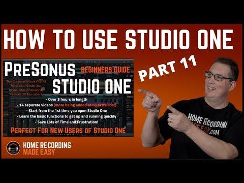 Recording Music - Presonus Studio One 3 - Beginners Guide #11 Bus & FX Tracks
