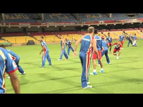 Night practice session at Chinnaswamy stadium in Bangalore
