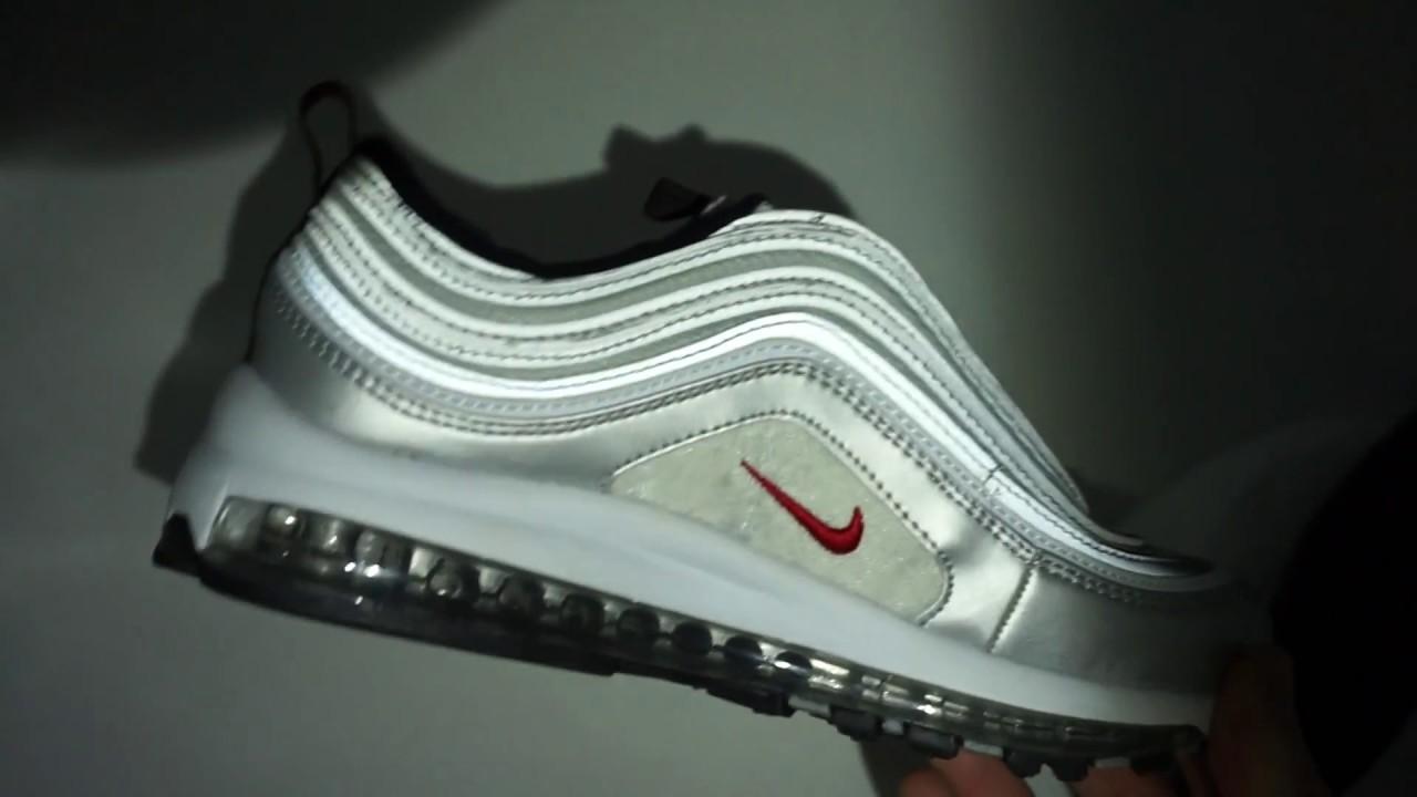мужские и женские кроссовки Nike Air Max 97 серебрые Vietnam Youtube