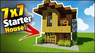 Minecraft: 7X7 Starter House Tutorial - How to Build a House in Minecraft
