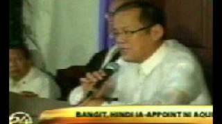 PHILIPPINE PRESIDENT ELECT BENIGNO AQUINO
