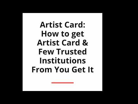 Artist Card for Film & TV Actors