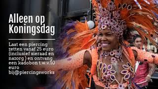 Alleen op Koningsdag - Piercings Works Amsterdam