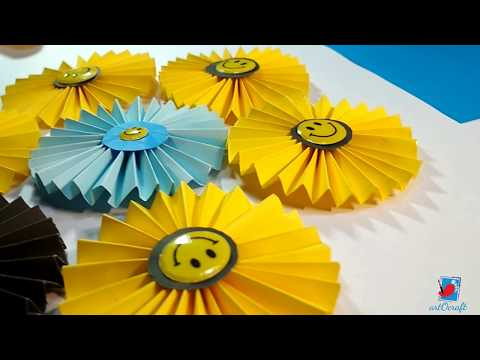 How to Make Paper Rosettes Flowers | Paper fan Backdrop for Decoration | step by step