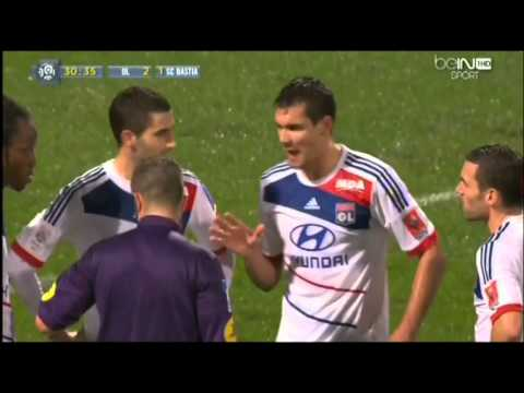 OL 5-2 Bastia | Carton Rouge de Lovren