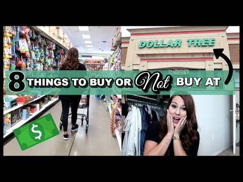 8 THINGS TO NOT BUY AT DOLLAR TREE | DOLLAR TREE MUST HAVES | 8 THINGS TO BUY AT DOLLAR TREE