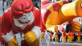 Macy's Thanksgiving Day Parade 2019: Wind Rips Ronald McDonald Balloon
