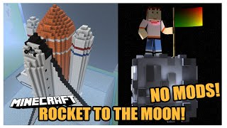 ROCKET SHIP TO THE MOON (No Mods) | Minecraft