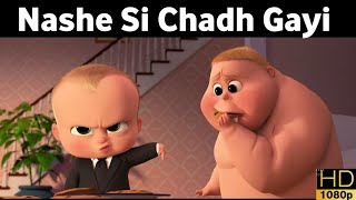 Boss Baby Funny Clips | Nashe Si Chadh Gayi | Animated Song Chipmunk Version