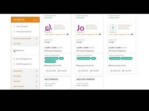 Jobs Bank Guide: Chapter 1 – Search, Bookmark and Compare Jobs