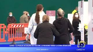 COVID- La Puglia accelera su vaccini, la Regione verso la zona arancione