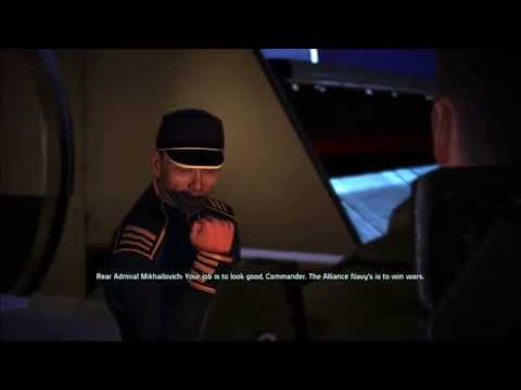 Rear Admiral Mikhailovich - Mass Effect 1 (1080p 60fps) HD
