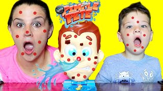 Caleb & Mommy Play Pimple Pete The Pimple Popping Family Fun Game