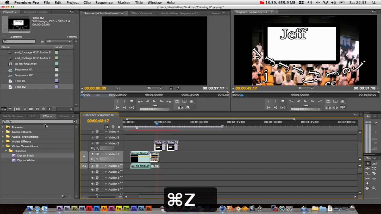 Adobe Premiere Pro Basics Tutorial : editing basics 2 ...