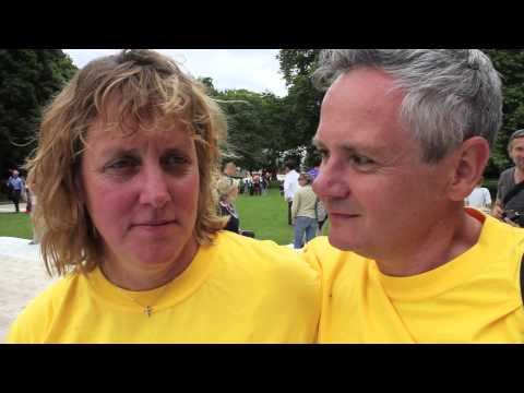 Alistair and Jonathan Brownlee's parents post London Olympic Triathlon 2012