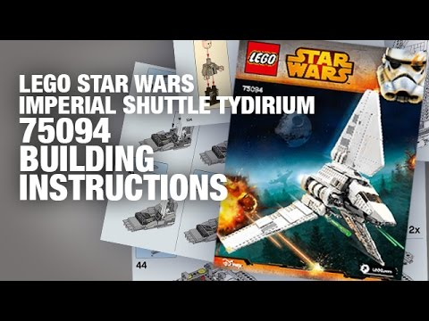 Lego Imperial Shuttle Tydirum 75094 Build Instructions Youtube