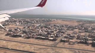 Anflug und Landung Hurghada